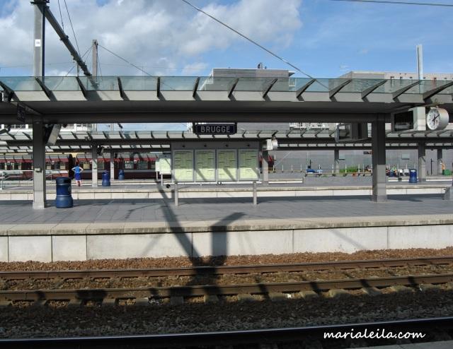Bruges train station.