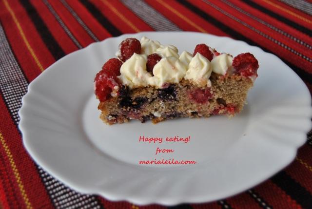 raspberry-blueberry cake
